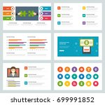 business presentation templates ... | Shutterstock .eps vector #699991852