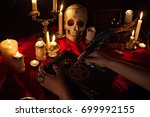 witchcraft composition with... | Shutterstock . vector #699992155