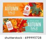 abstract vector illustration... | Shutterstock .eps vector #699995728