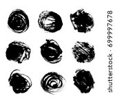 ink brush stains set. grunge... | Shutterstock .eps vector #699997678