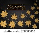 elegant autumn background with...   Shutterstock .eps vector #700000816