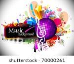 musical theme disco background... | Shutterstock .eps vector #70000261