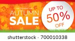 autumn sale template banner ... | Shutterstock .eps vector #700010338