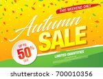 autumn sale template banner ... | Shutterstock .eps vector #700010356