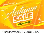 autumn sale template banner ... | Shutterstock .eps vector #700010422