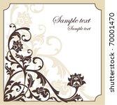 abstract vintage frame vector... | Shutterstock .eps vector #70001470