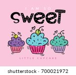 sweet cupcakes illustration... | Shutterstock .eps vector #700021972