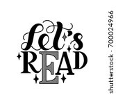 let's read. inspirational and... | Shutterstock .eps vector #700024966