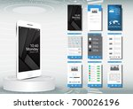 ui  ux for mobile application... | Shutterstock .eps vector #700026196