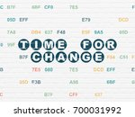 time concept  painted blue text ... | Shutterstock . vector #700031992
