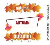 autumn vector   Shutterstock .eps vector #700036636