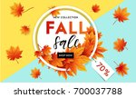 autumn sale flyer template with ... | Shutterstock .eps vector #700037788