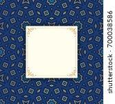 arabic geometric frame....   Shutterstock .eps vector #700038586