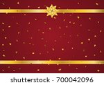 gold bow ribbon decoration with ... | Shutterstock .eps vector #700042096