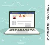 social network facebook web... | Shutterstock .eps vector #700045672