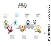 vector map infographic.... | Shutterstock .eps vector #700047982