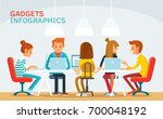 freelancers working in co... | Shutterstock .eps vector #700048192