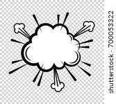 vector comic explosion. comic... | Shutterstock .eps vector #700053322