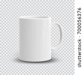 photo realistic white cup... | Shutterstock .eps vector #700056376
