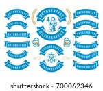 oktoberfest celebration beer... | Shutterstock .eps vector #700062346