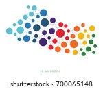 dotted texture el salvador... | Shutterstock .eps vector #700065148