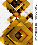 squares geometric object in... | Shutterstock .eps vector #700067392