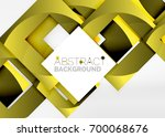 squares geometric object in... | Shutterstock .eps vector #700068676