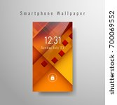 abstract modern smartphone... | Shutterstock .eps vector #700069552