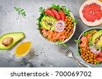 Healthy Salad Bowl With Salmon...
