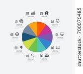 infographics template 10... | Shutterstock .eps vector #700070485