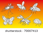 insects | Shutterstock .eps vector #70007413