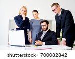 group of office workers | Shutterstock . vector #700082842