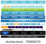 menu buttons navigation easy to ... | Shutterstock .eps vector #70008370