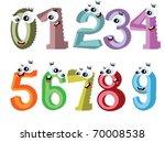 cartoon numbers | Shutterstock .eps vector #70008538