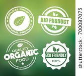 organic natural food stamps.... | Shutterstock .eps vector #700087075