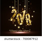 happy new year and merry... | Shutterstock .eps vector #700087912