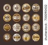 sale retro vintage golden...   Shutterstock .eps vector #700090432