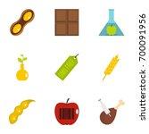 biotechnology icon set. flat...   Shutterstock .eps vector #700091956