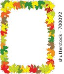 autumn announcement invitation... | Shutterstock .eps vector #700092