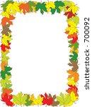 autumn announcement invitation... | Shutterstock .eps vector #700092