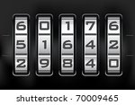 combination lock   number code. ... | Shutterstock .eps vector #70009465