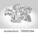 five diamond of the most... | Shutterstock . vector #700095286