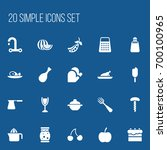 set of 20 editable meal icons....