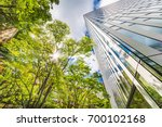 fresh green and building | Shutterstock . vector #700102168