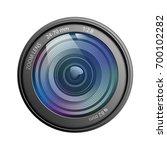 camera lens isolated on white...   Shutterstock .eps vector #700102282