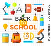 school icons set. education... | Shutterstock . vector #700104502