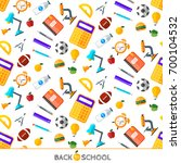 school icons set. education... | Shutterstock . vector #700104532