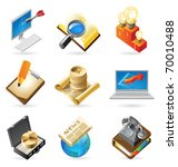 concept icons for business.... | Shutterstock . vector #70010488