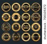 sale retro vintage golden... | Shutterstock .eps vector #700105372
