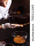 glaze chocolate cake. the... | Shutterstock . vector #700111345